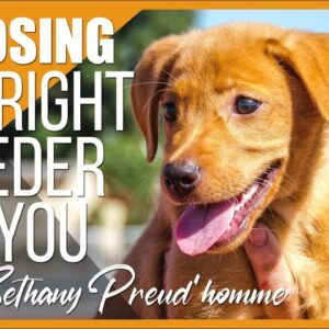 How to Find and Choose the Right Breeder for You. With Bethany Preud'homme.